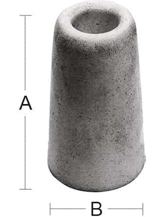 Dörrstopp Habo 29 30mm Vit