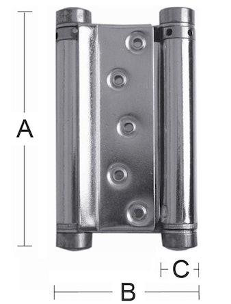 Svängdörrsgångjärn Habo 10 150mm