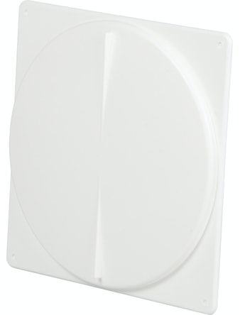 Tallriksventil Fresh Ø160mm Med Fyrkantig Ram