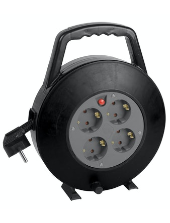 Kabelrulle 10 m 3G1 jordad termosäkring