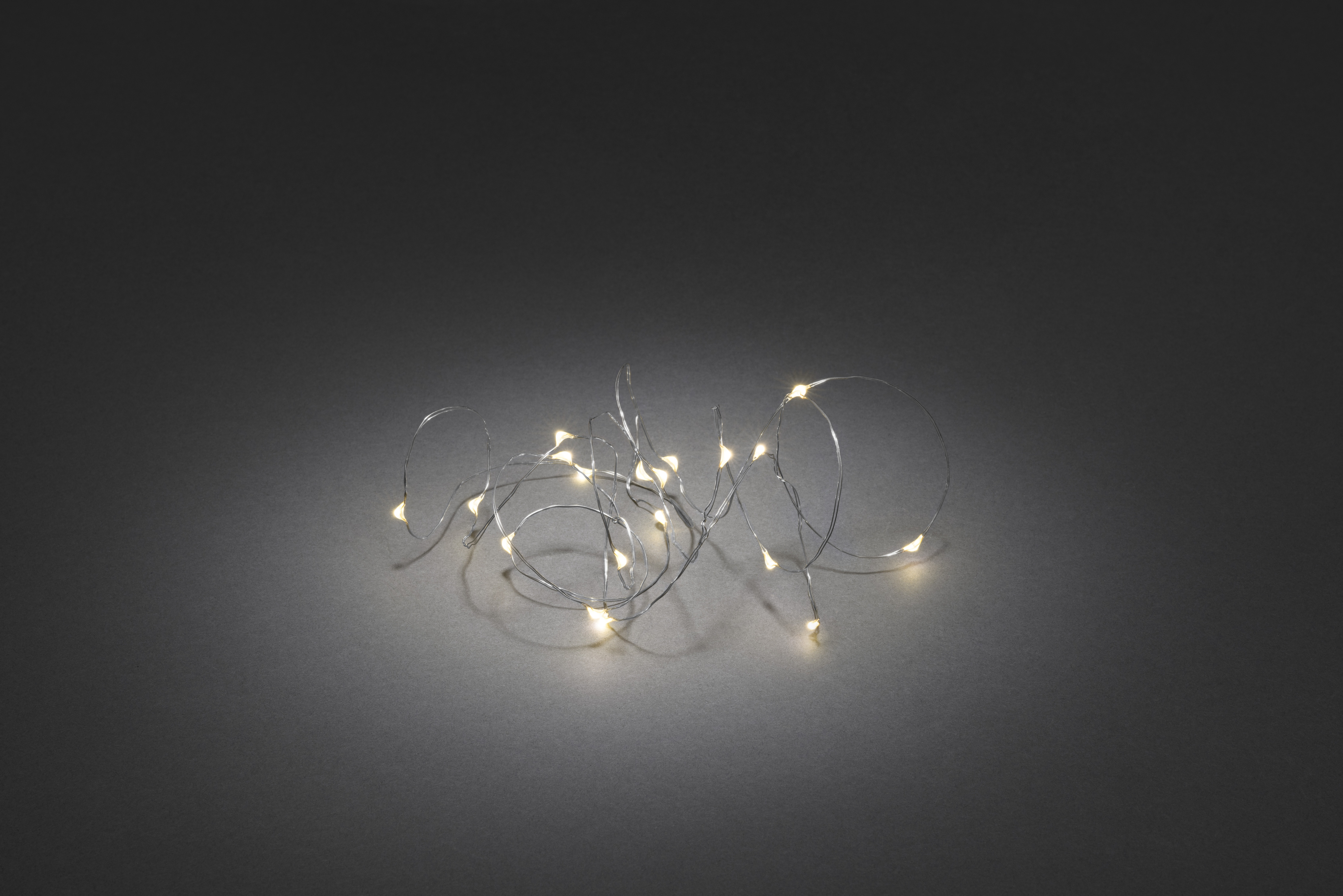 Ljusslinga Konstsmide Led 20 Varmvit Kabel Silver
