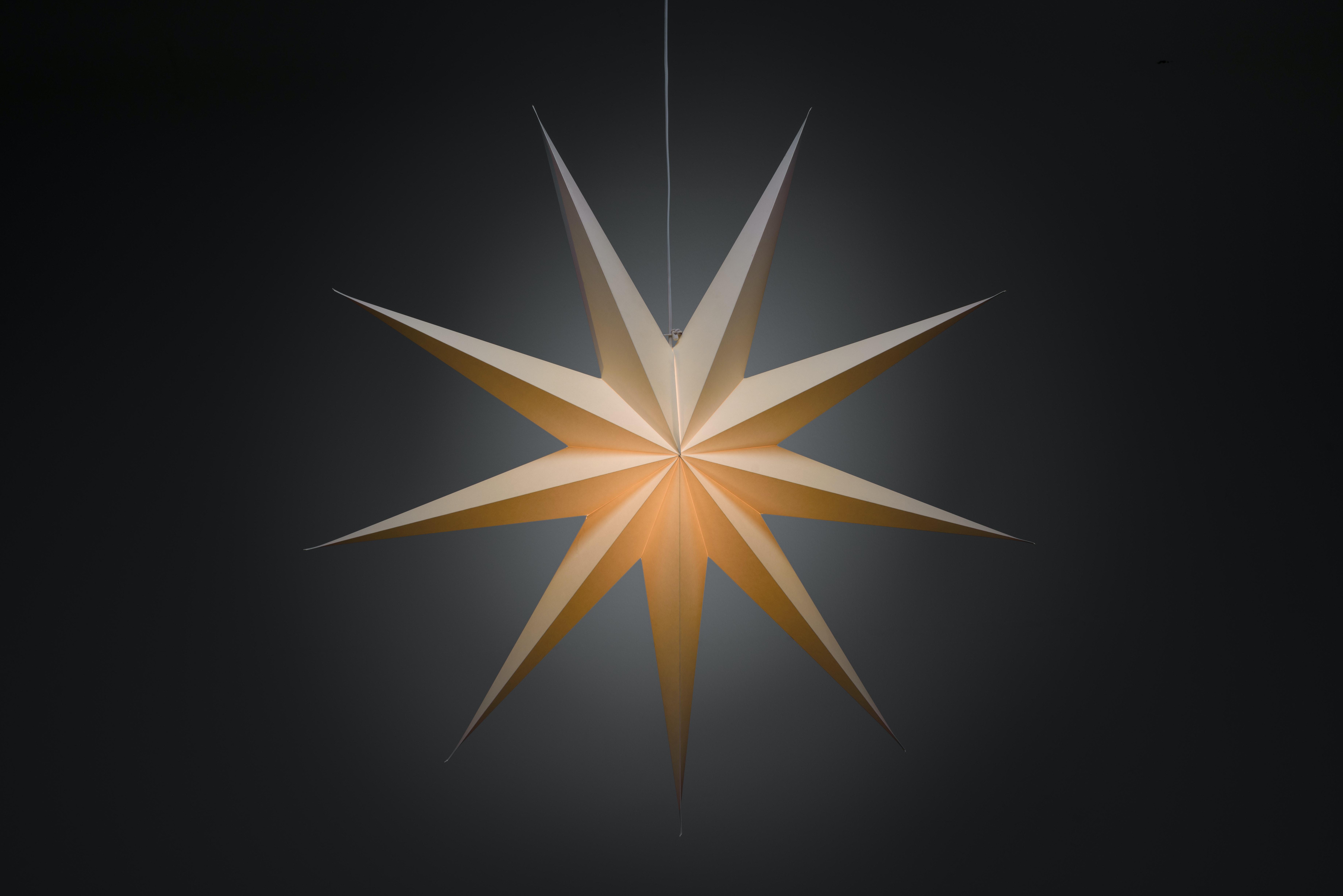 Julstjärna Konstsmide Vit Papp 115cm
