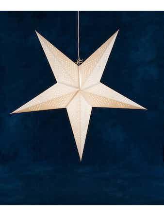 Pappersstjärna Konstsmide Vit 95cm 2957200