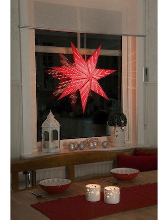 Pappersstjärna Konstsmide Röd 60cm 2959550