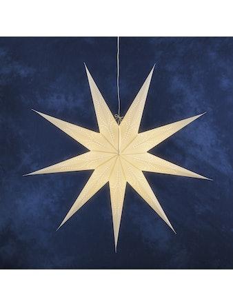 Pappersstjärna Konstsmide Hängande Vit 118cm