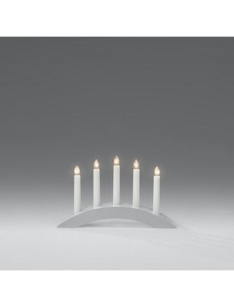 Elljusstake Konstsmide Liten Båge 5 Ljus Trä Grå