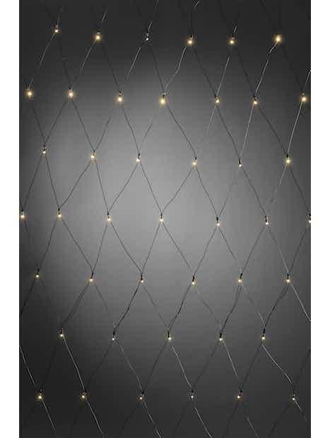 LED-VALOVERKKO KONSTSMIDE 0,8X1,6M HÄMÄRÄTUNNISTIN+AJASTIN