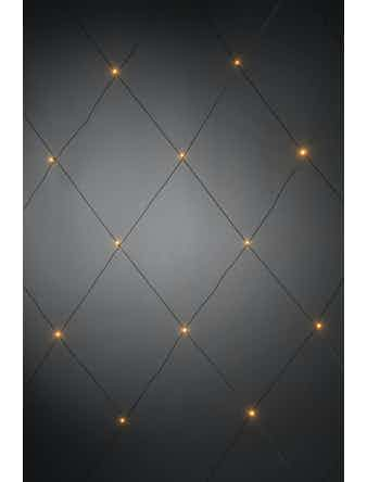 Ljusnät Konstsmide 64 Amber Led 2X2M Svart Kabel