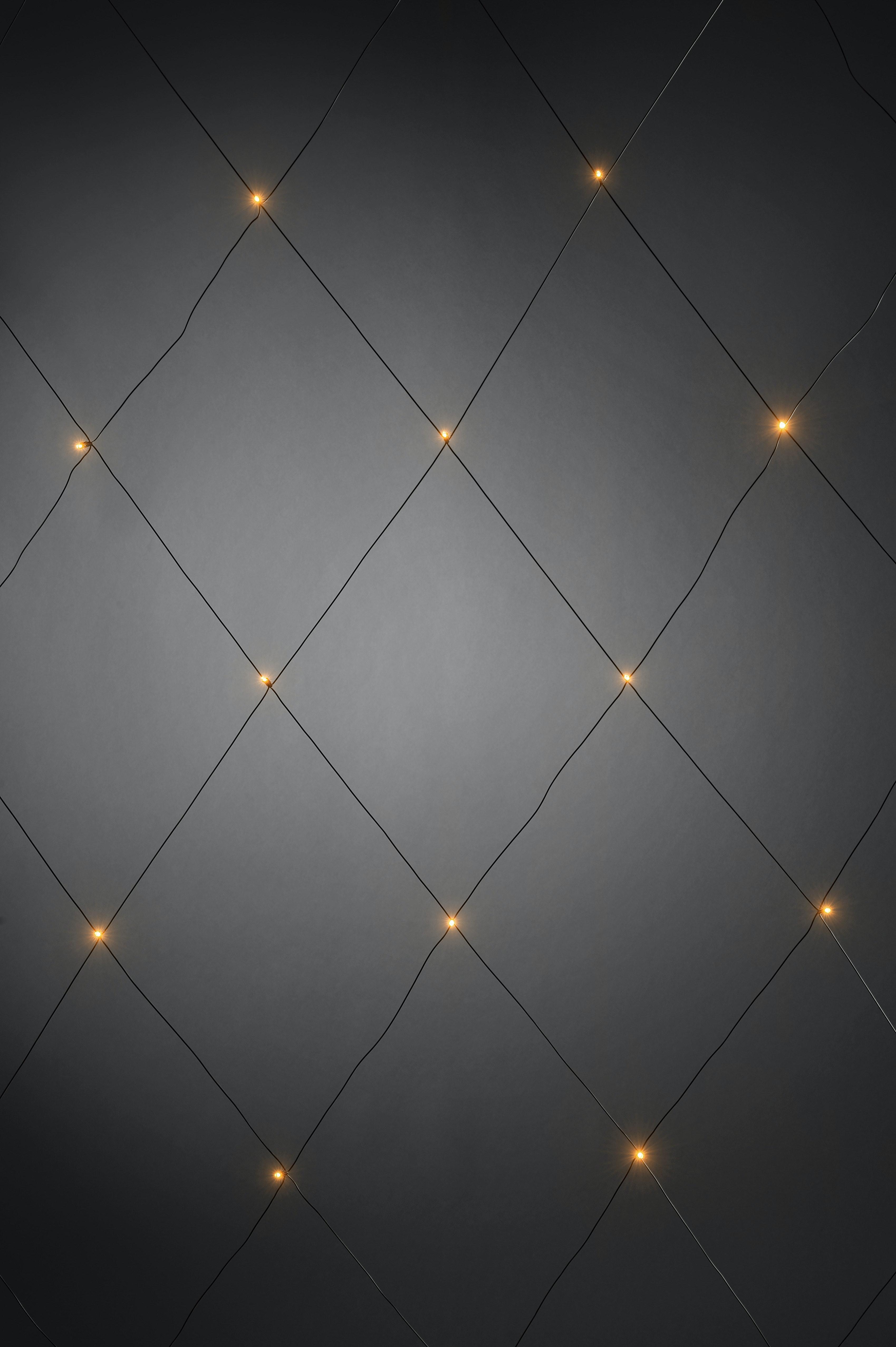 Ljusnät Konstsmide 96 Amber Led 3X3M Svart Kabel