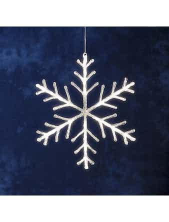 Snöflinga Konstsmide 40cm 24 Varmvita Ledlampor