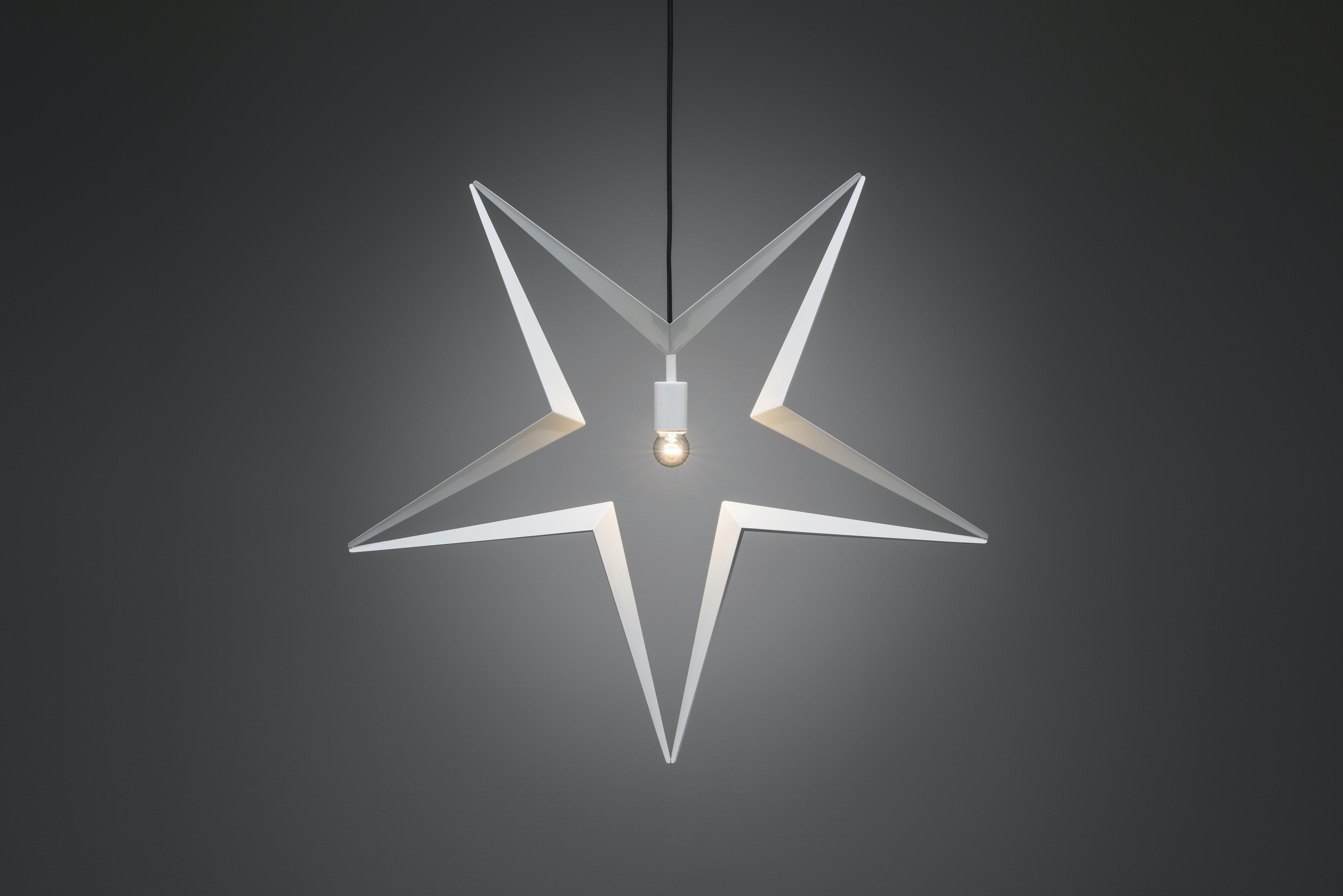 Julstjärna Konstsmide Vit Metall 80cm