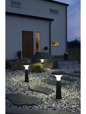 Solcellslampa Konstsmide Led Assisi-Aton 450mm Svart