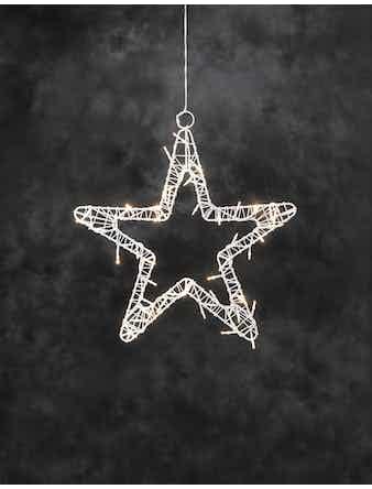 Stjärna Konstsmide Med 48 Ledlampor Vit