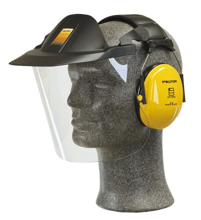 Skyddsmask 3M Med Hörselskydd och Visir V40FH510A