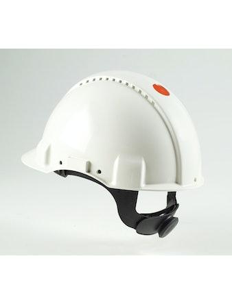 Skyddshjälm 3M Med Ställskruv Vit G3000