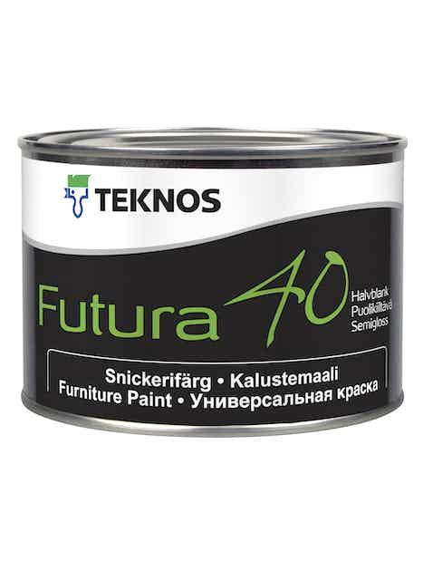 FUTURA 40 KALUSTEMAALI 0,45L PUOLIKIILTÄVÄ PM1 VALKOINEN SÄVYTETTÄVISSÄ