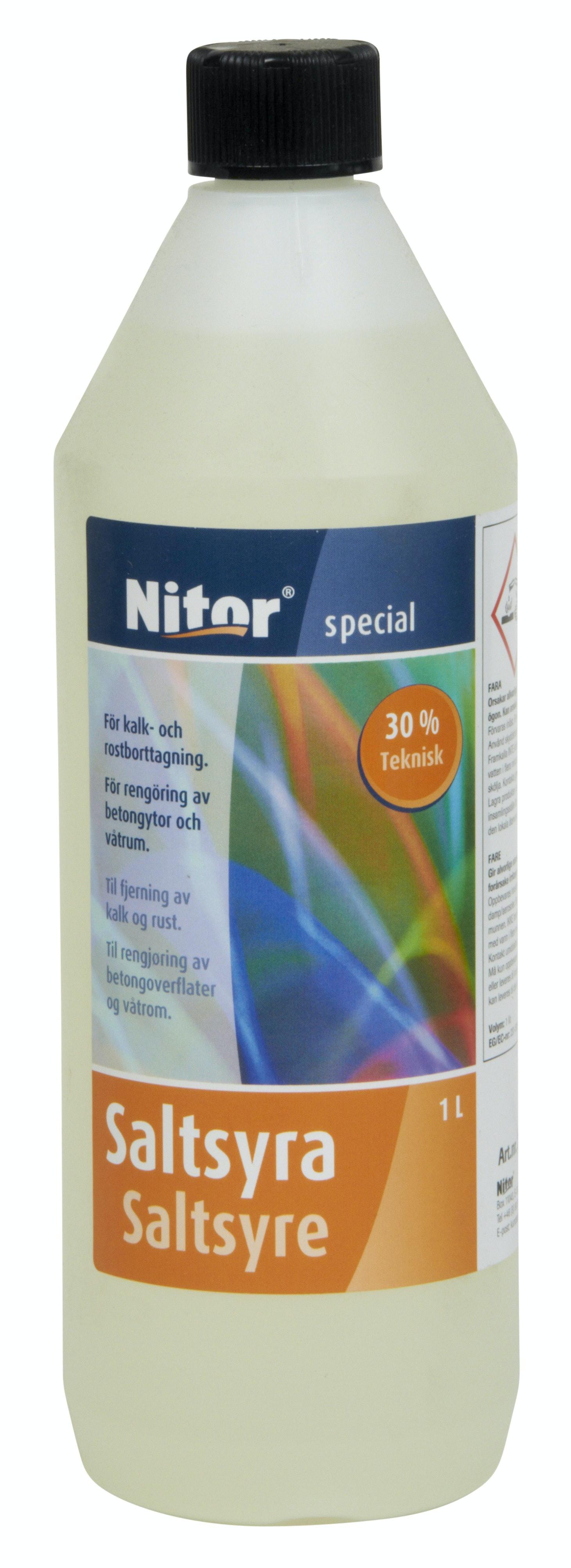 Saltsyra Nitor 0,3 Teknisk 5l