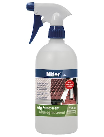 Fasadrengöring Nitor Alg & Mossrent Spray 750ml