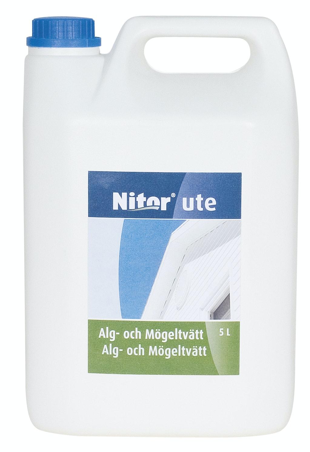 Fasadrengöring Nitor Alg- och Mögeltvätt Utomhus 5l