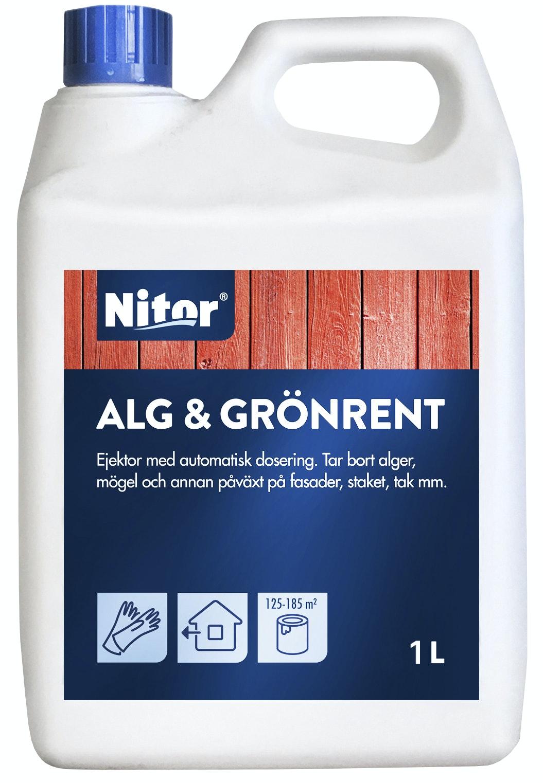 Fasadrengöring Nitor Alg-och Grönrent Refill 1l