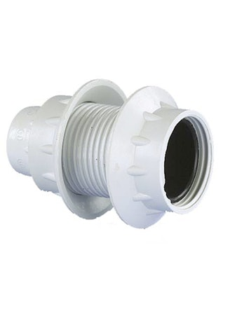 Lamphållare Gelia E14 Vit Gängad 2St Ringar