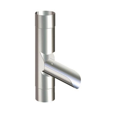 Fällbar Utkastare Lindab  FUTK Ø87mm Silver