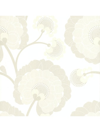 Tapet Wallkotyr Vintage Blomma Vit Beige