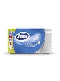 Туалетная бумага Zewa Deluxe, белая, 3-слойная, 8 шт.