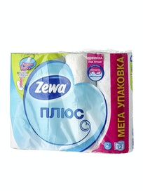 Бумага туалетная Zewa Plus, белая, двухслойная, 12 шт.