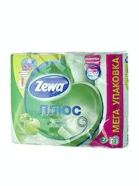 Бумага туалетная Zewa Plus, двухслойная, яблоко, 12 шт.
