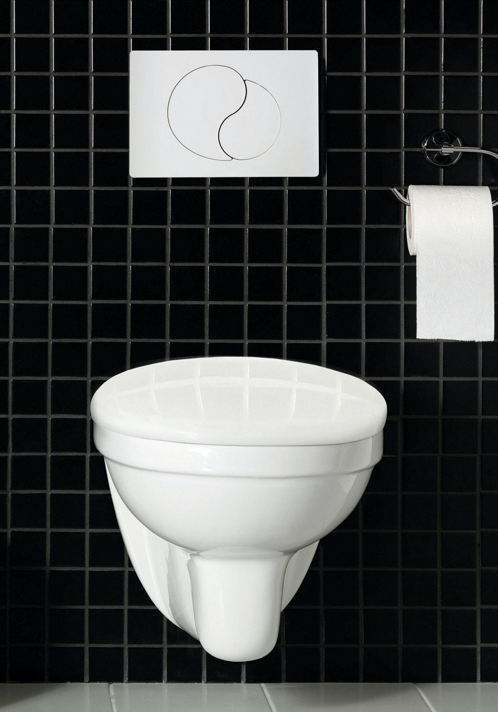 Toalett Hafa Wall Vägghängd Komplett Vit