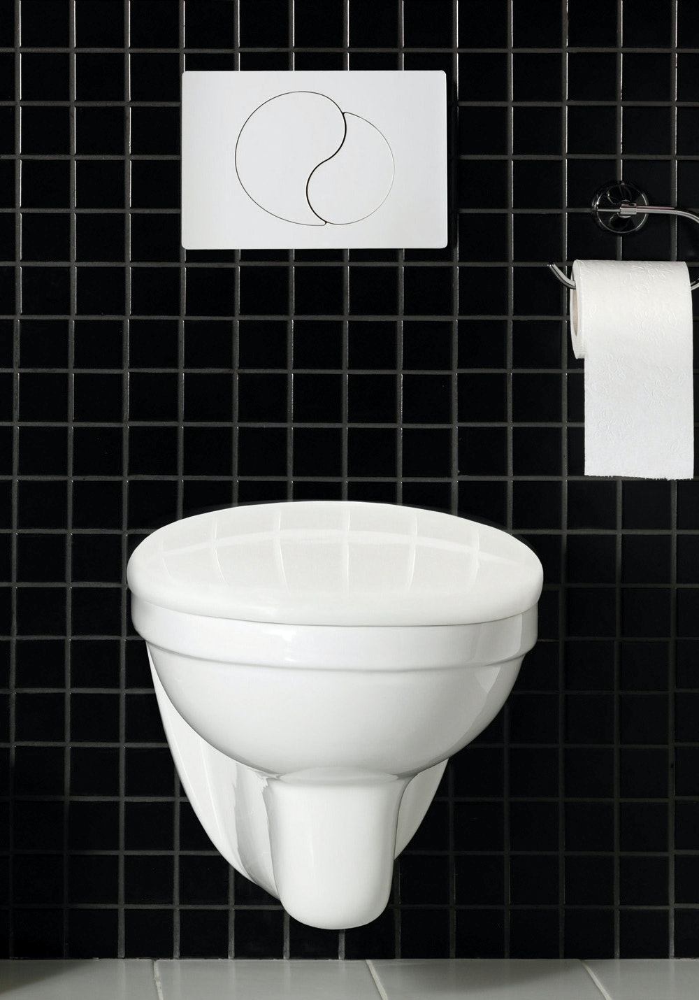 Toalett Hafa Wall Vägghängd Komplett Krom