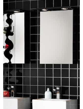Spegelskåp Hafa Solo 420 Svart