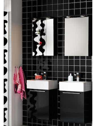Badrumsmöbel Hafa Solo 42 cm Vit Komplett Med Spegelskåp