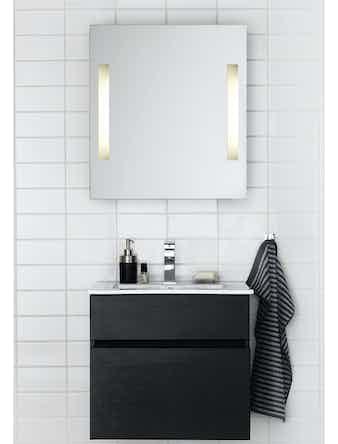 Badrumsmöbel Hafa East 60 cm svart komplett med spegel