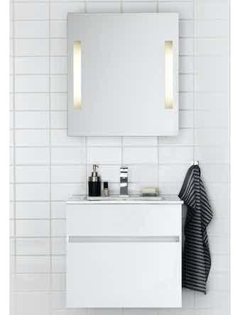 Badrumsmöbel Hafa East 120 cm dubbelho svart komplett med spegel