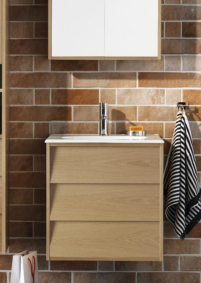 Tvättställsskåp Hafa Original 600 Ekfanér