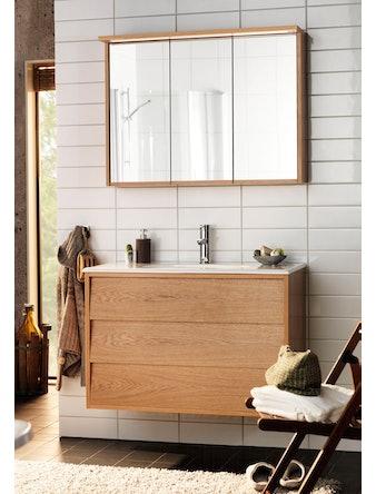 Badrumsmöbel Hafa Original 1200 ek komplett med spegelskåp
