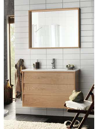 Badrumsmöbel Hafa Original 1200 vit komplett med spegel