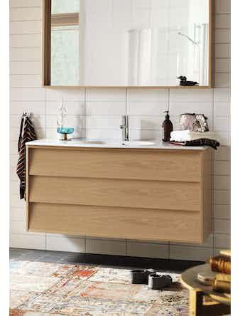 Tvättställsskåp Hafa Original 1200 Svart Faner