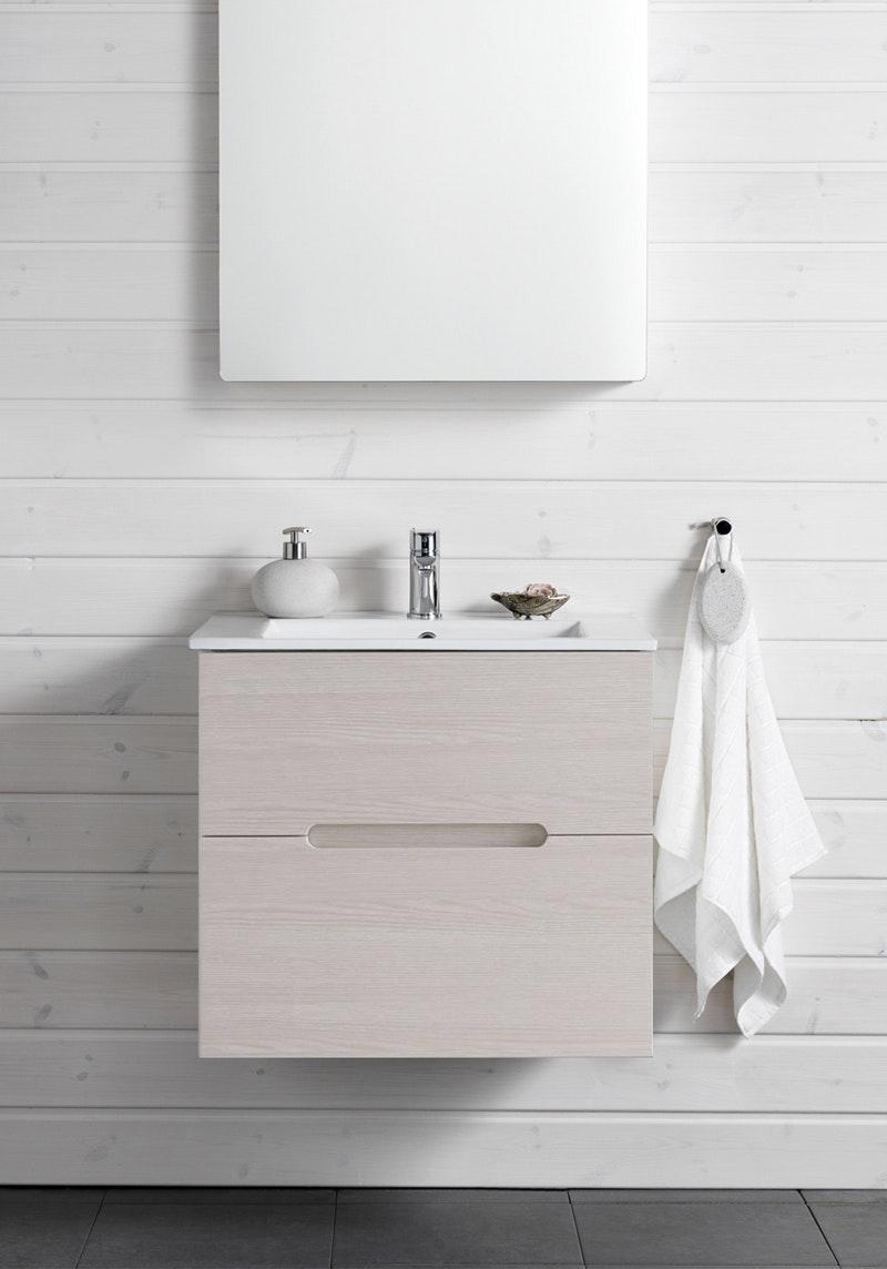 Tvättställsskåp Hafa Sun Vit Ek 600