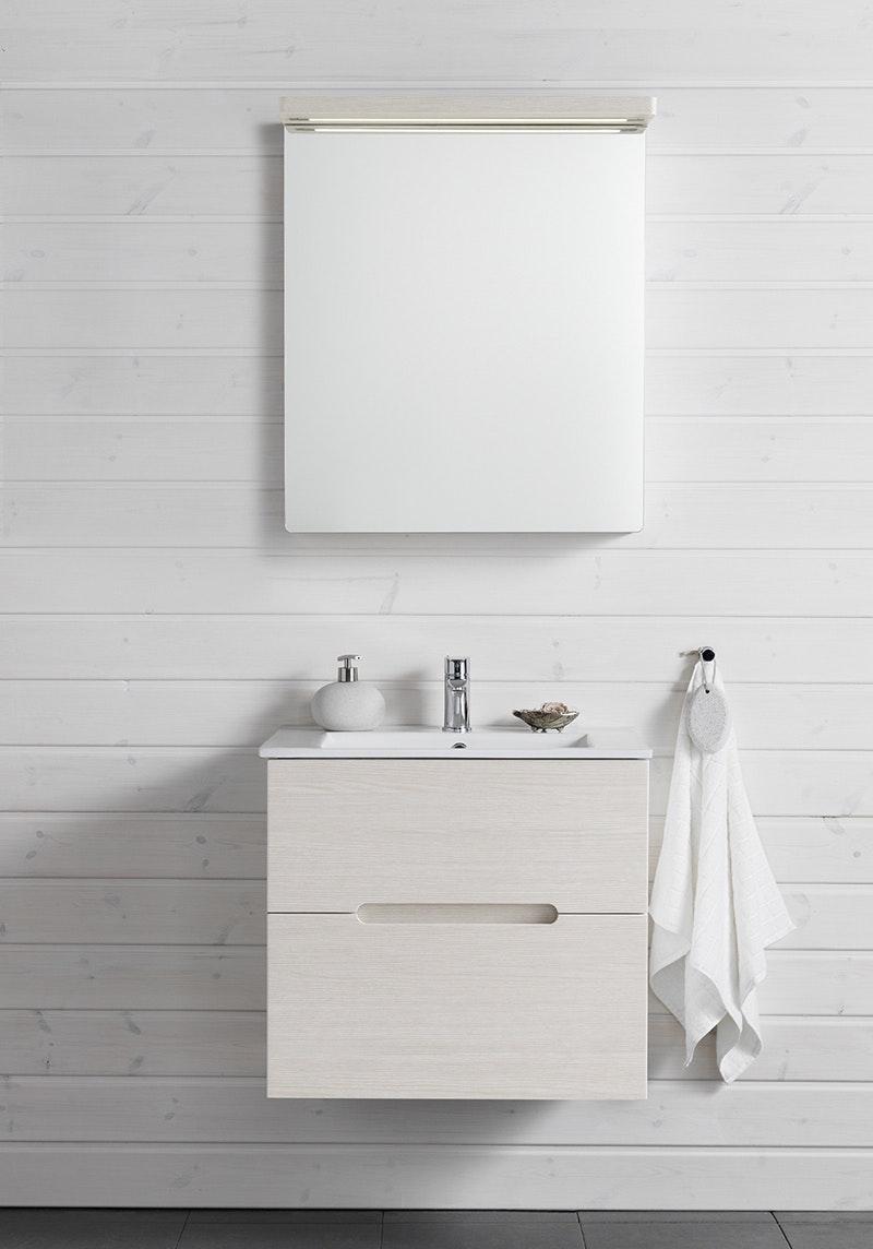 Möbelpaket Hafa Sun 600 Med Spegel Vit Ekstruktur