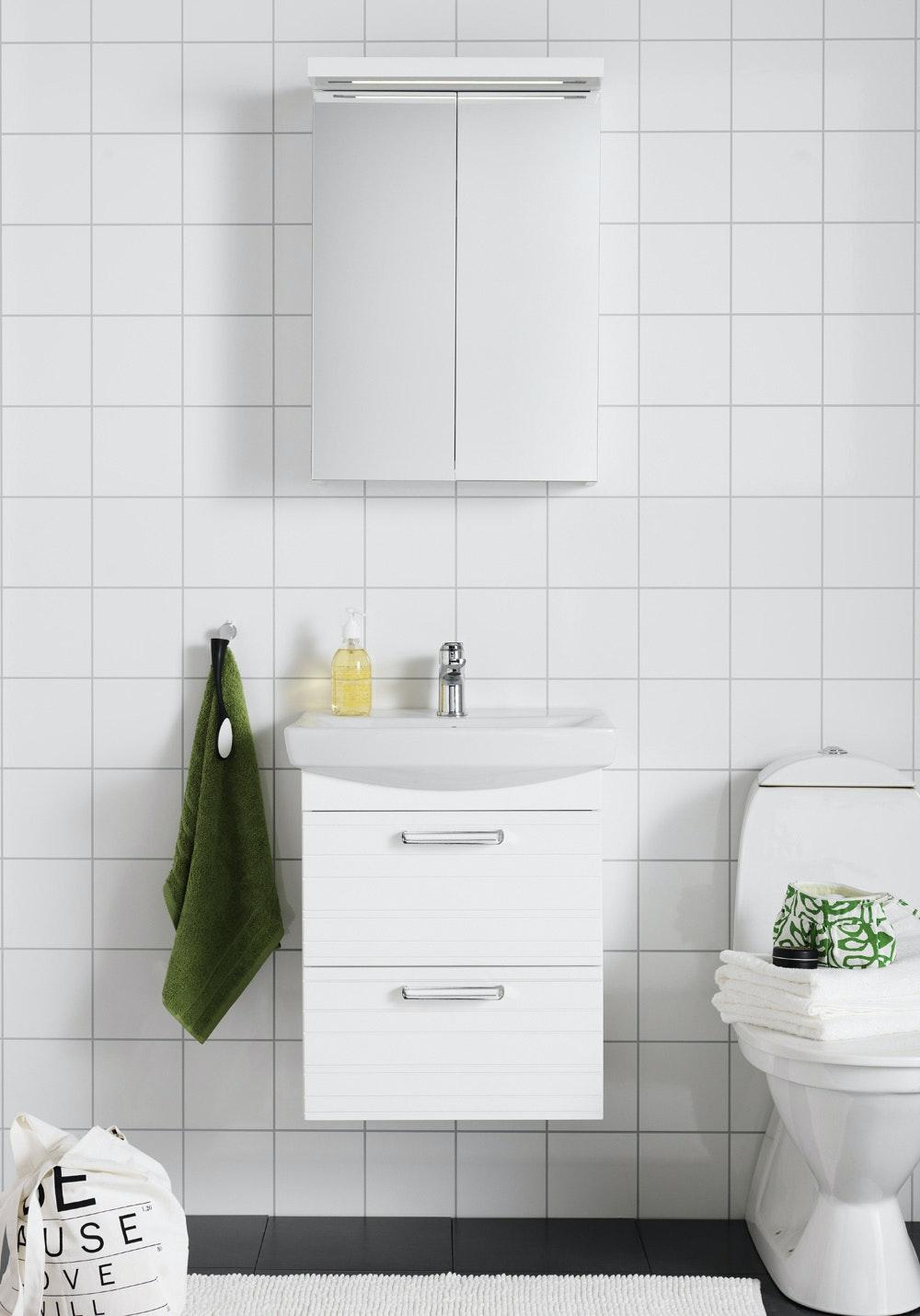 Badrumsmöbel Hafa Life 600 Med Spegelskåp Vit