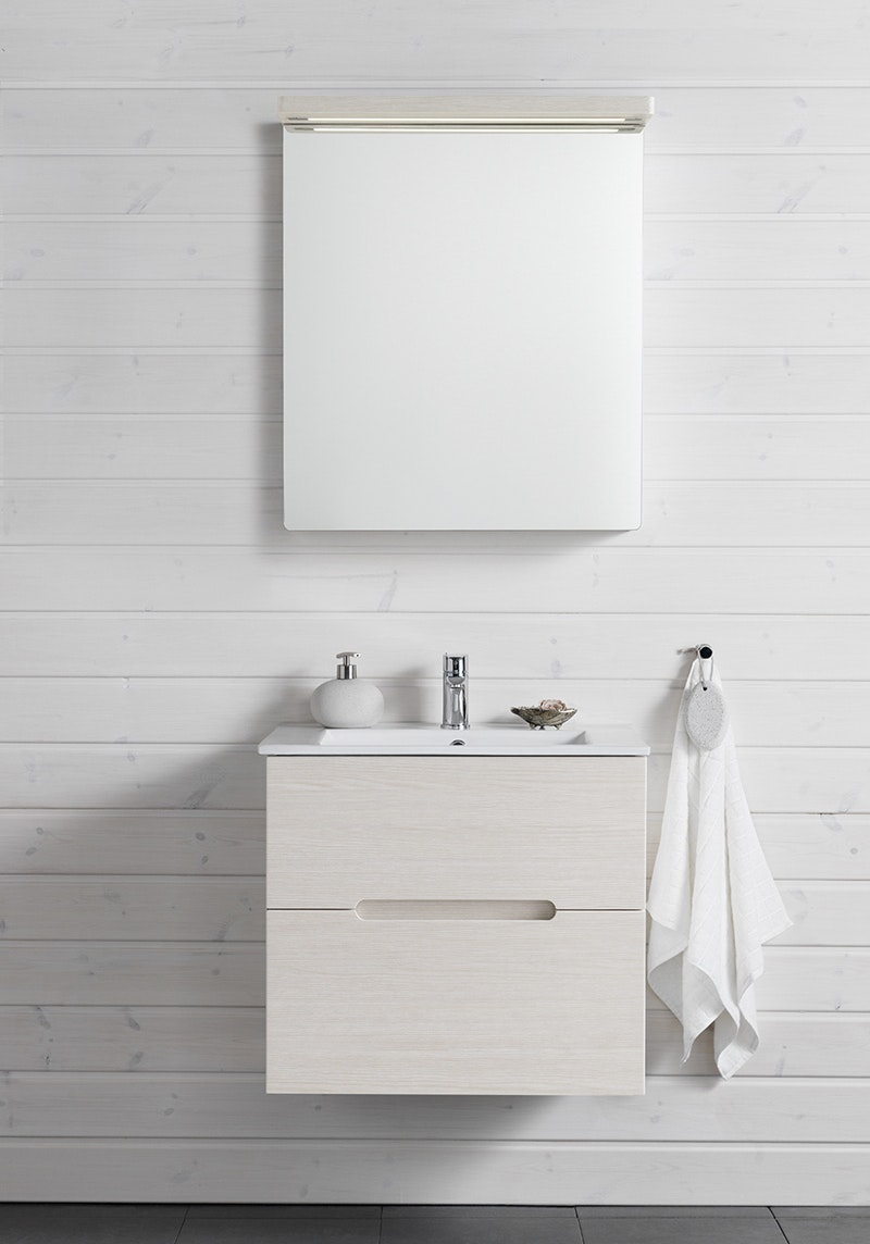 Möbelpaket Hafa Sun Compact 600 Med Spegel Vit ek