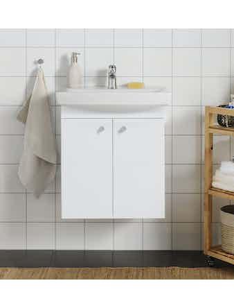 Tvättställsskåp Med Tvättställ Hafa Life 600 Vit