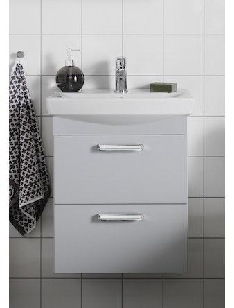 Tvättställspaket Hafa Life 500 Ljusgrå