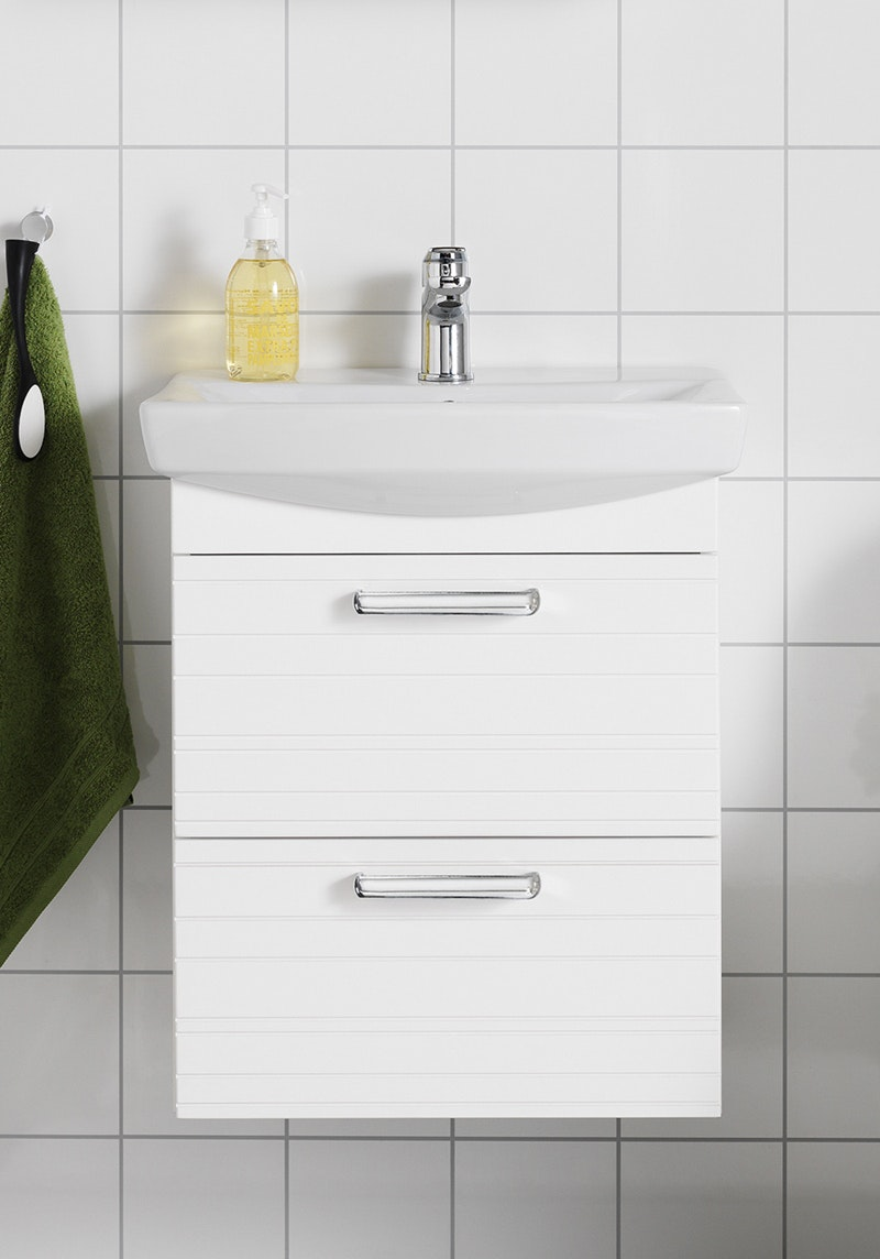 Tvättställspaket Hafa Life 500 Lines Vit