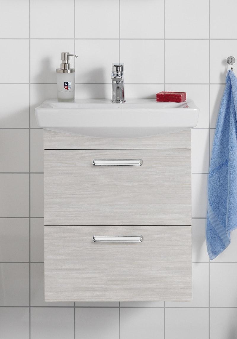 Tvättställspaket Hafa Life 500 Vit Ekstruktur