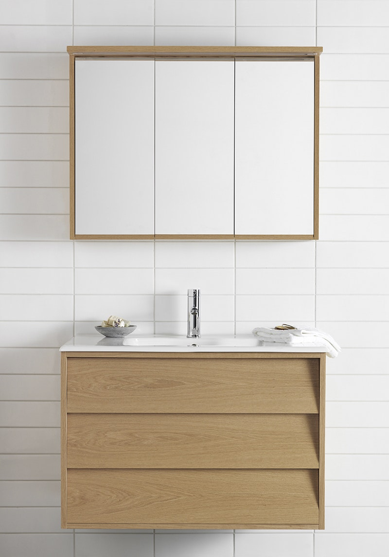 Möbelpaket Hafa Original 900 Med Spegelskåp Ek