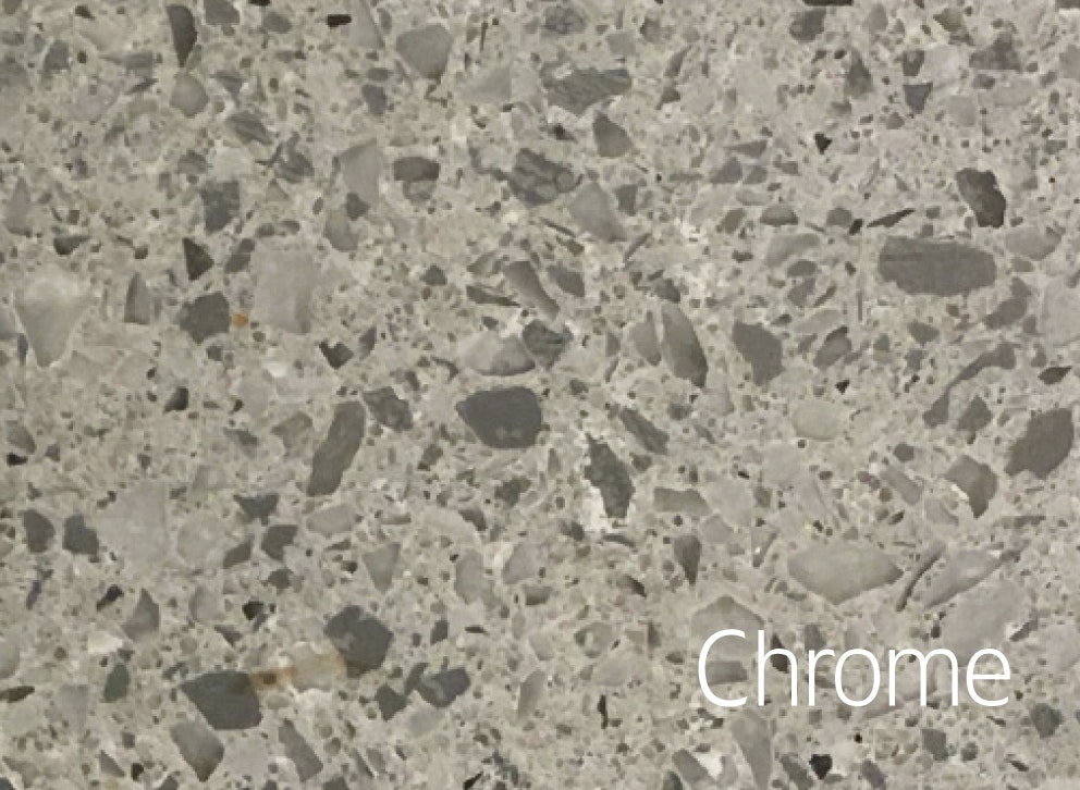 Bänkskiva Hafa Chrome Suede 12x462x610mm Centrerat Hål